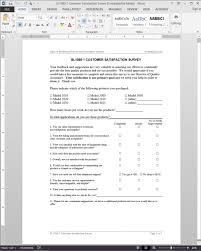 customer satisfaction survey microsoft word template as1 saneme