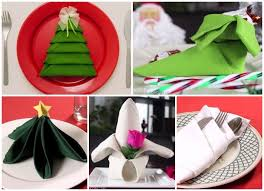 christmas napkin folding ideas holiday table setting ideas
