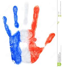 France Flag Images Handprint Of A France Flag On A White Stock Photo Image 37739884