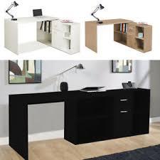 study table l corner l shape computer desk executive shelves drawers gaming