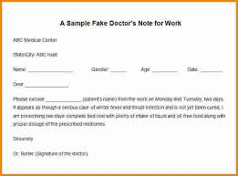 3 fake doctors note free cashier resume