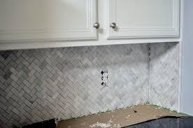 Carrara Marble Subway Tile Kitchen Backsplash Herringbone Marble Subway Tile Backsplash Astonishing