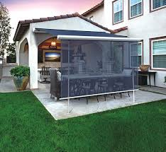 Awning System Motorized Cassette Dual Roller Awning Roller Shade System At