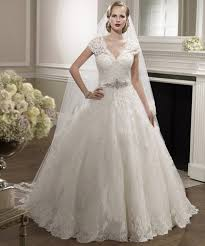 sleeve beaded lace wedding dresses gown v neck bridal