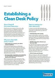 Desk Audit Definition Clear U0026 Clean Desk Policy Protect Sensitive Information Shred