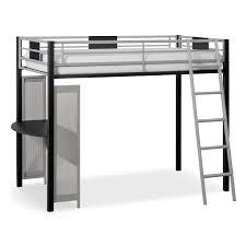 samba youth twin loft bed with desk matte black value city