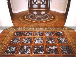 hardwood floor inlay medallion marquetry san francisco