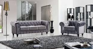 canapé chesterfield velours deco in ensemble canape 3 places 1 fauteuil chesterfield