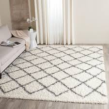 4 X 8 Area Rugs Safavieh Moroccan Shag Ivory Grey 5 Ft 1 In X 7 Ft 6 In Area