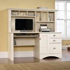 sauder 420606 palladia l desk vo a2 computer vintage oak amazon com antique white computer desk w hutch file cabinet
