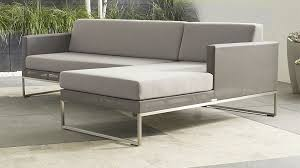 Sectional Cushions Dune Sofa With Sunbrella Cushions Crate And Barrel