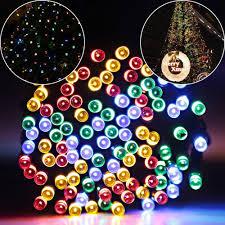 solar led christmas lights outdoor amazon com bj power solar led string lights 33 ft 100 led solar