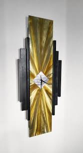 innovative abstract wall clock 68 zeeshan scattered petals black