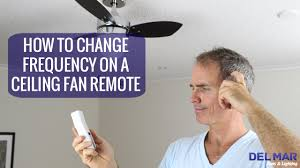 how to change the frequency on a ceiling fan remote youtube
