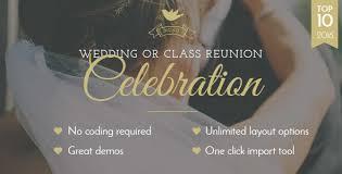 celebration wedding class reunion theme by boldthemes