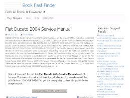 32 fiat ducato 2004 service manual