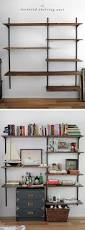 lovely track wall shelving mounted garage shelves with epic track wall shelving box shelves with