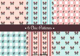 free vector shabby chic roses patterns free vector download 144223