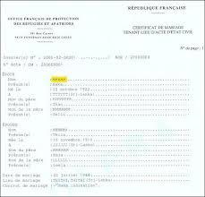 demander acte de mariage formulaires état civil ofpra