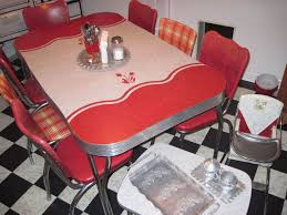 Retro Red Kitchen Chairs - 168 best vintage dinettes utility carts images on pinterest