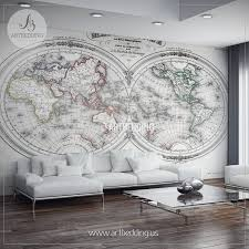 wall murals wall tapestries canvas wall art wall decor antique world map hemisphere 1846 wall mural self adhesive peel stick photo