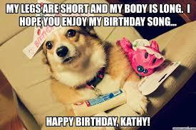 Corgi Birthday Meme - birthday song