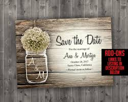 rustic wedding invitations cheap jar baby s breath flowers rustic wedding invitation set