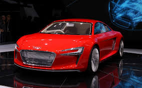 wonderful red audi e tron luxury car hd images