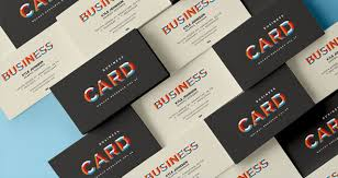 free business card template psd mockup