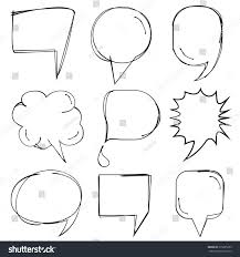 speech bubble hand drawn comic speech bubble hand drawn theme stock vector 315285203