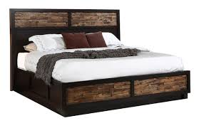 California King Bed Frame With Drawers Classic Makeeda California King Storage Bed In Rustic