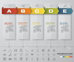 timeline infographic 5 steps design template can be used for