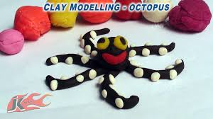 003 clay modelling learn to make octopus jk easy craft 003