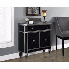 Silver Mirrored Nightstand Nightstand Exquisite Round Bedside Table Mirrored Nightstand