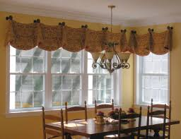 Window Dressing Ideas by Bay Window Kitchen Curtains And Treatment Valance Ideas And