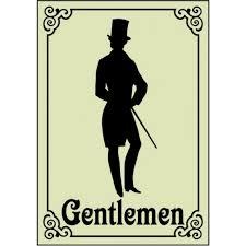 creative restroom signs victorian gentlemen 1