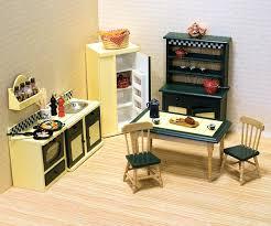 barbie wood dollhouse victorian kitchen furniture set miniature