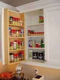 Kitchen Cabinet Interior Organizers Spice Rack For Kitchen Cabinet Door The Simple Yet Useful Interior