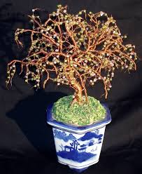 saatchi beaded bonsai wire tree sculpture sculpture by sal