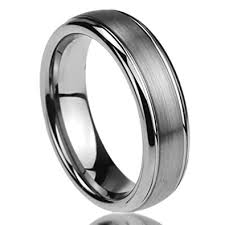 mens comfort fit wedding bands 6mm titanium mens womens rings brushed centered domed comfort fit