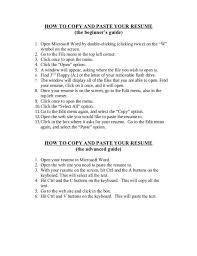 resume copy and paste template copy and paste resume template how to copy and paste your resume 1