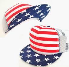 new american flag hat trucker snapback usa stars u0026stripes red white
