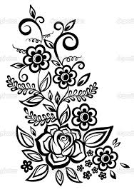 black and white flower design free download clip art free clip