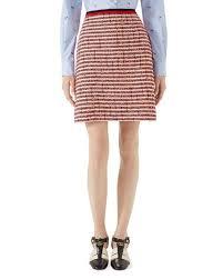 tweed skirt gucci tweed skirt with web neiman