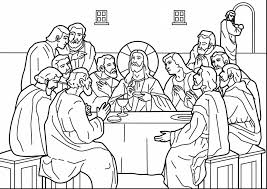 terrific last supper coloring page with catholic coloring pages