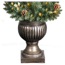 5ft prelit artificial tree potted spiral alberta spruce