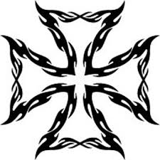 tribal iron cross vinyl decal sticker car truck tattoo ebay