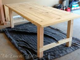 build dining room table from barn plans small