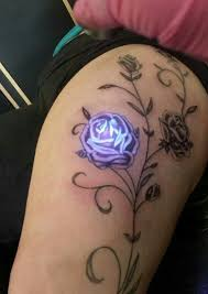 outstanding rose tattoo with glowing tattoo ink new tattoo