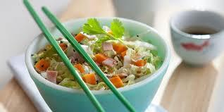 cuisiner le chou chinois salade de chou chinois jambon mimolette recettes femme actuelle